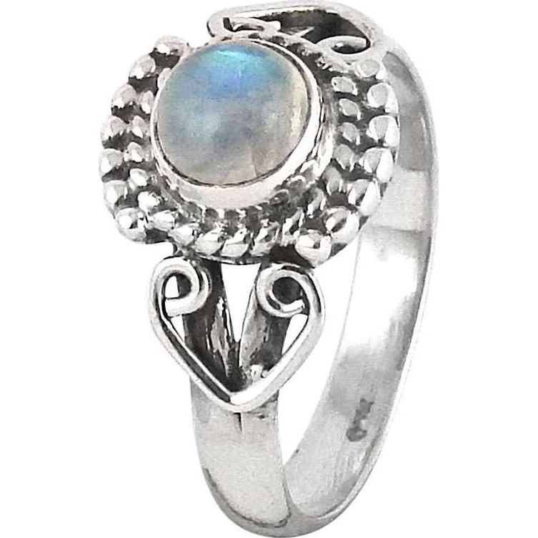 Royal! 925 Silver Rainbow Moonstone Ring