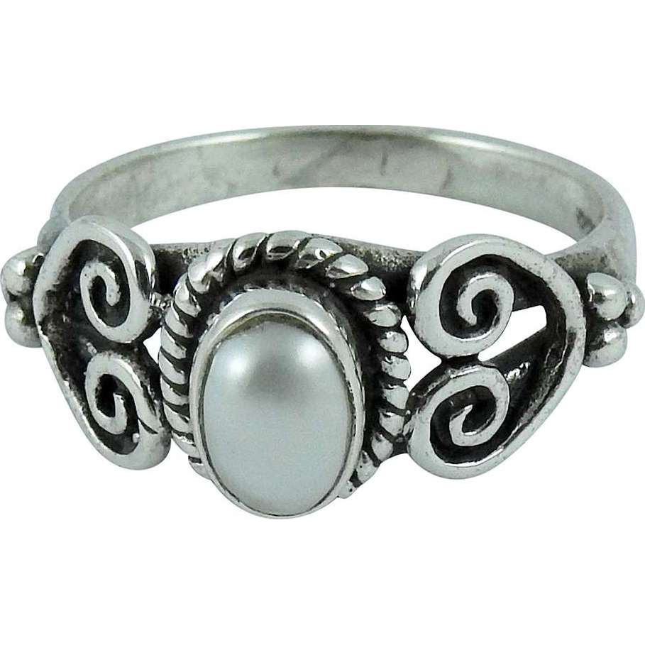Big Natural Top! 925 Silver Pearl Ring