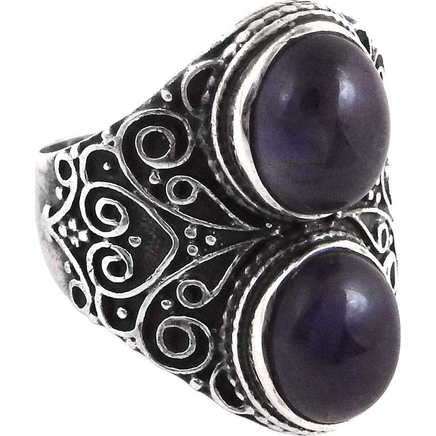 Top Quality African! 925 Silver Amethyst Ring