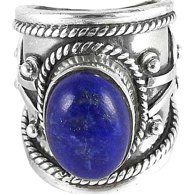 Large Stunning!! Lapis 925 Sterling Silver Rings