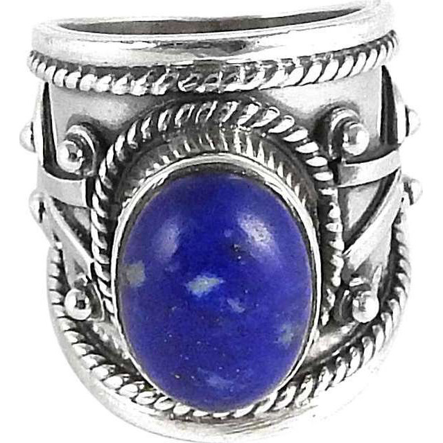 Stunning!! Lapis 925 Sterling Silver Rings