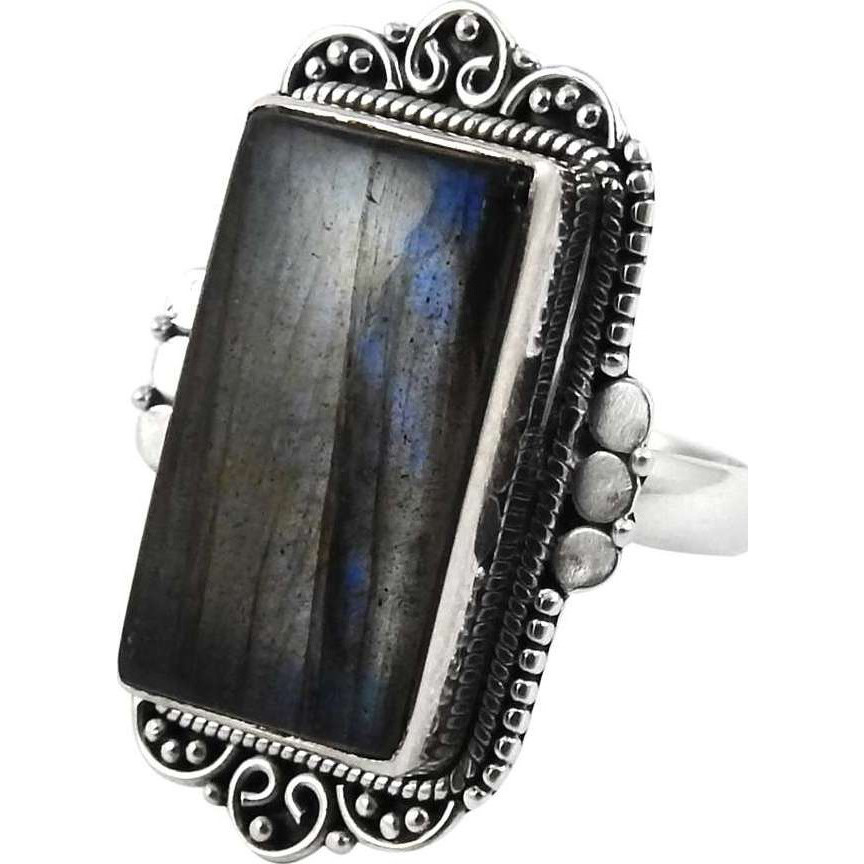 Misty Morning! Labradorite 925 Sterling Silver Rings