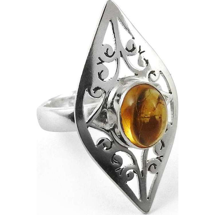 Lady Elegance ! 925 Sterling Silver Citrine Ring