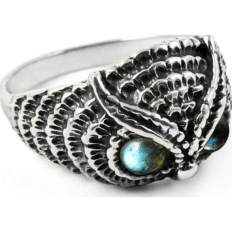 Classy Style!! Labradorite 925 Sterling Silver Ring