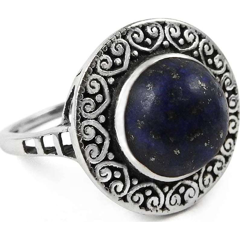 Dainty!! Lapis 925 Sterling Silver Ring