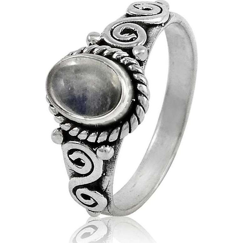 Top Quality African ! 925 Sterling Silver Rainbow Moonstone Ring