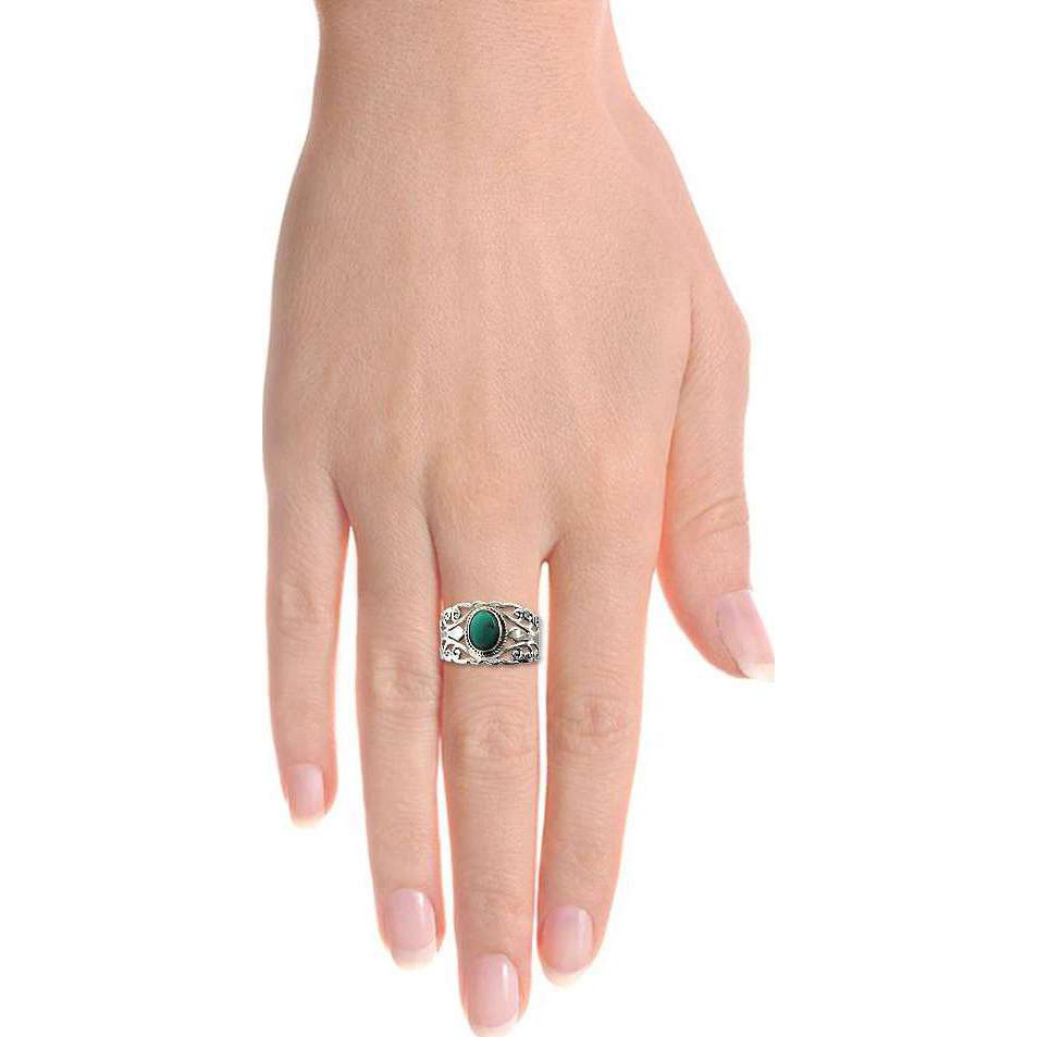 Fine ! 925 Sterling Silver Turquoise Ring