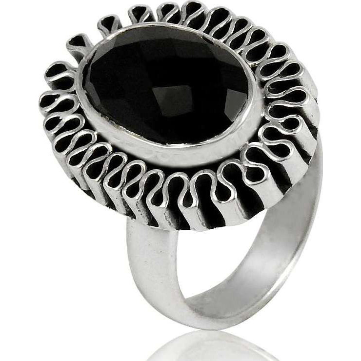 Breath Of Love ! 925 Sterling Silver Black Onyx Ring