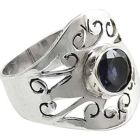 Great Creation!! 925 Silver Iolite Ring