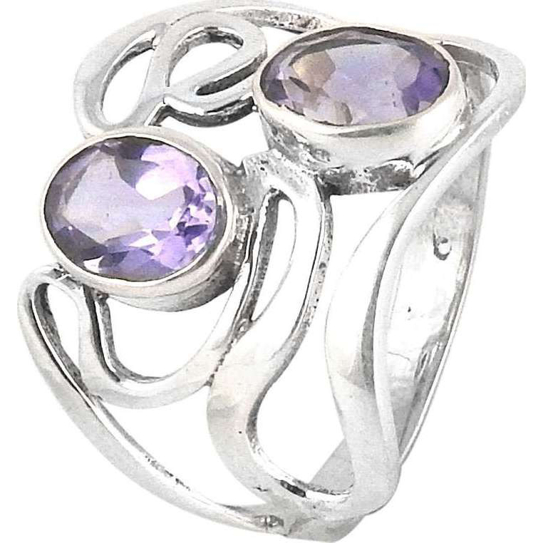 Captivating !! Amethyst 925 Sterling Silver Ring