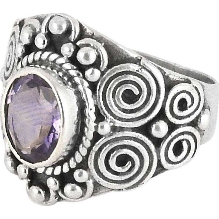 Big Secret Design! Amethyst 925 Sterling Silver Rings