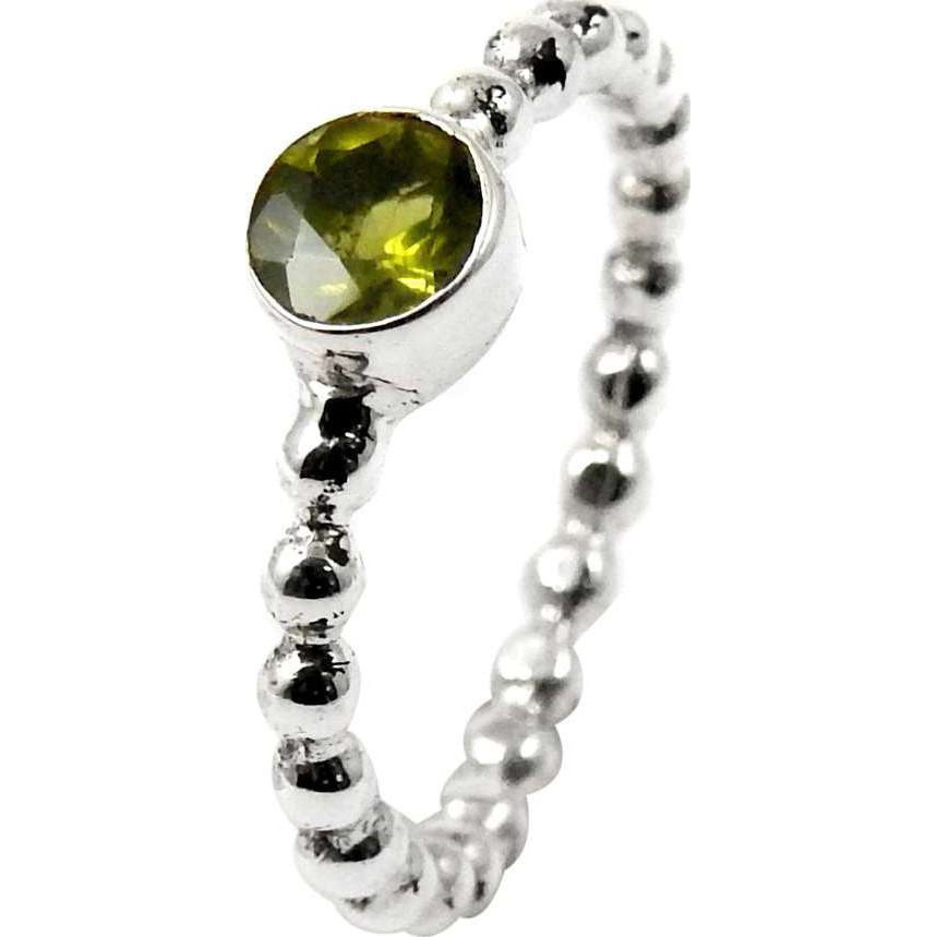 Circle Of Love! Peridot 925 Sterling Silver Ring