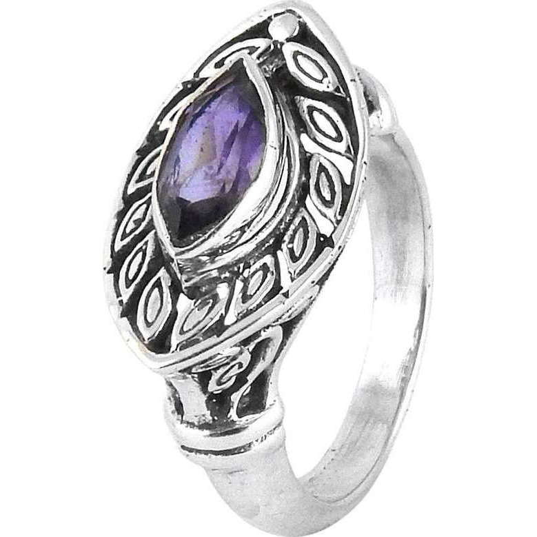 Big Special Moment! Amethyst 925 Sterling Silver Ring