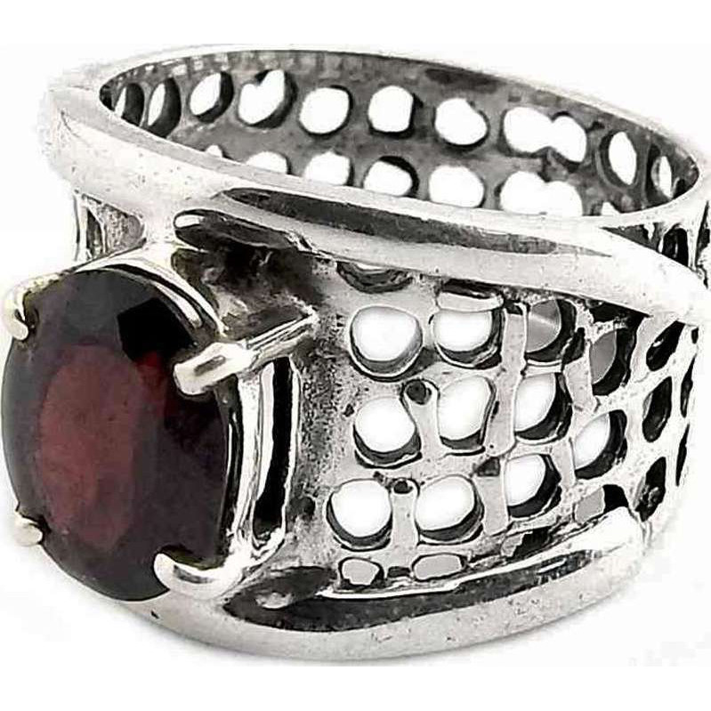 New Exclusive Style! Garnet 925 Sterling Silver Ring