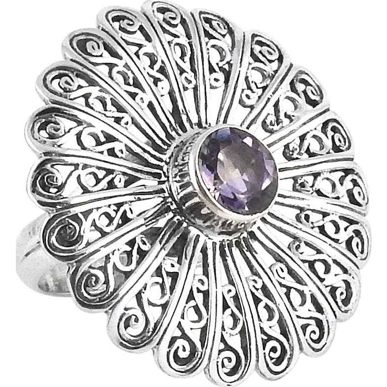 Misty Morning! Amethyst 925 Sterling Silver Rings