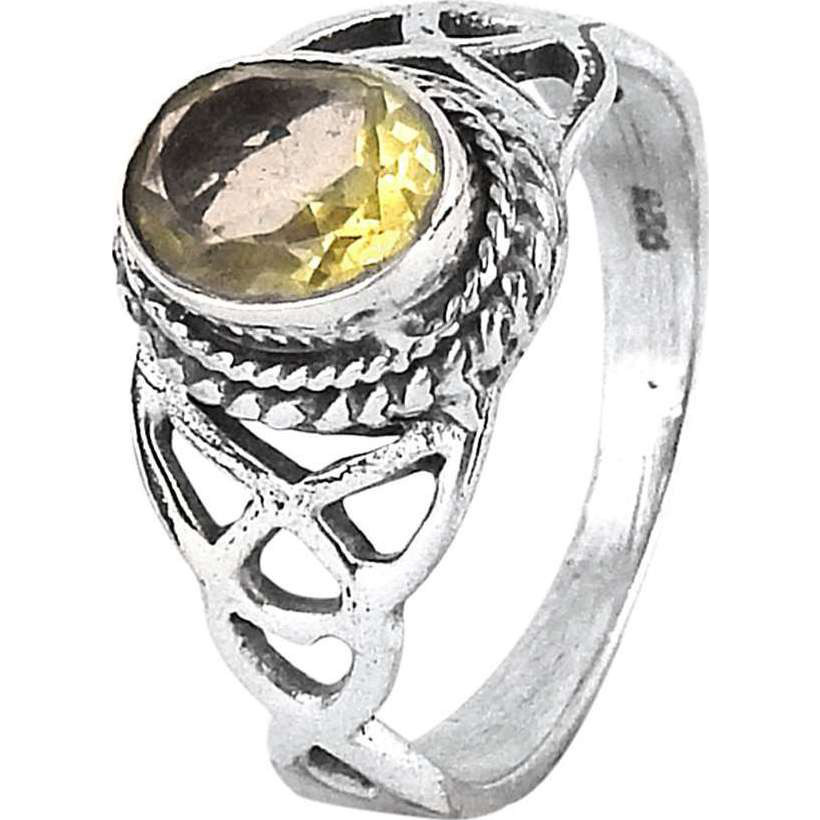 Victorian Style!! Citrine 925 Sterling Silver Ring