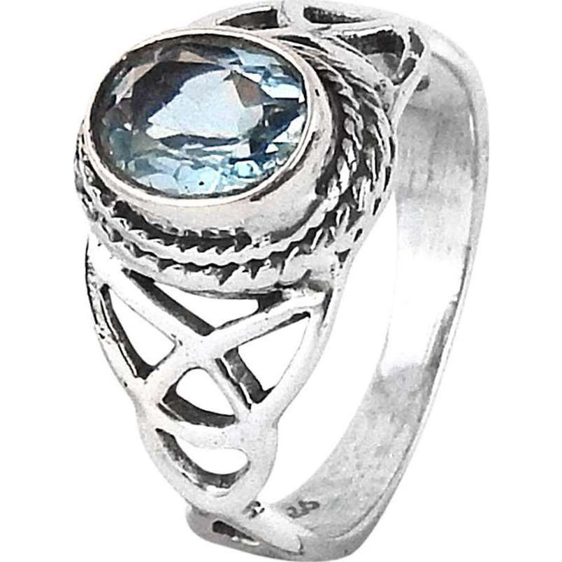 Love At First Sight Light!! Blue Topaz 925 Sterling Silver Ring