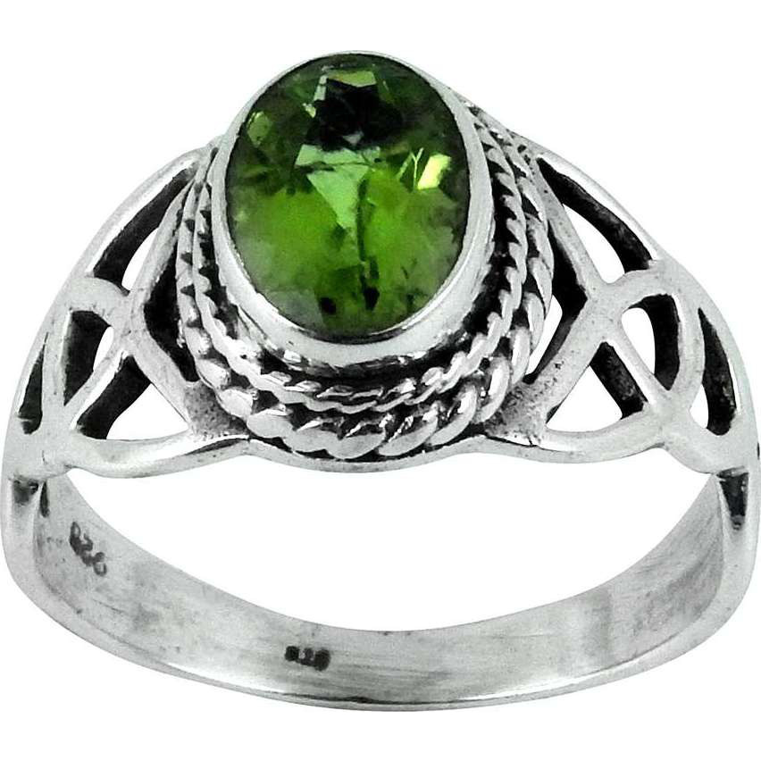 Pale Beauty!! Peridot 925 Sterling Silver Ring