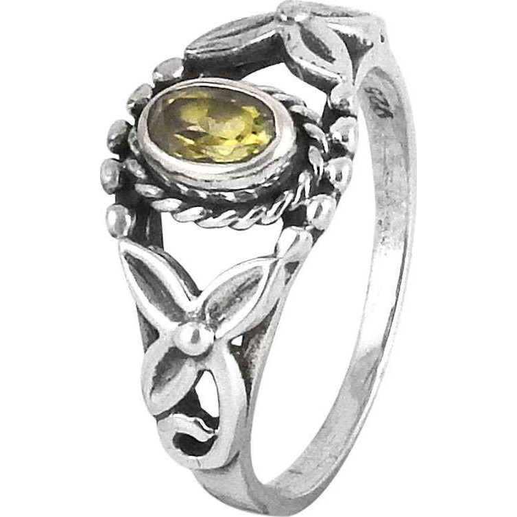 Jumbo! Citrine 925 Sterling Silver Rings