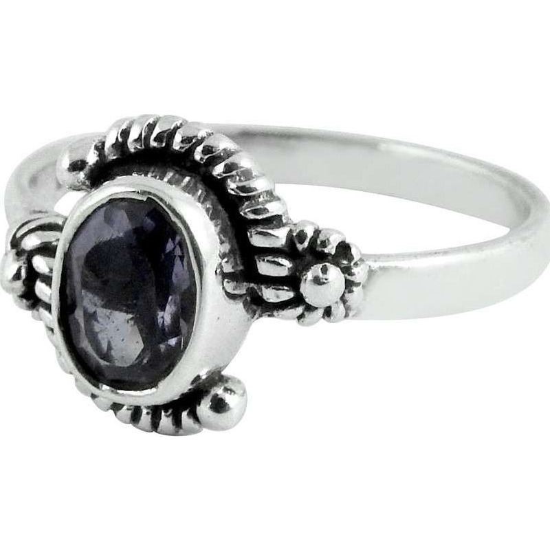 Delicate Light!! Amethyst 925 Sterling Silver Ring