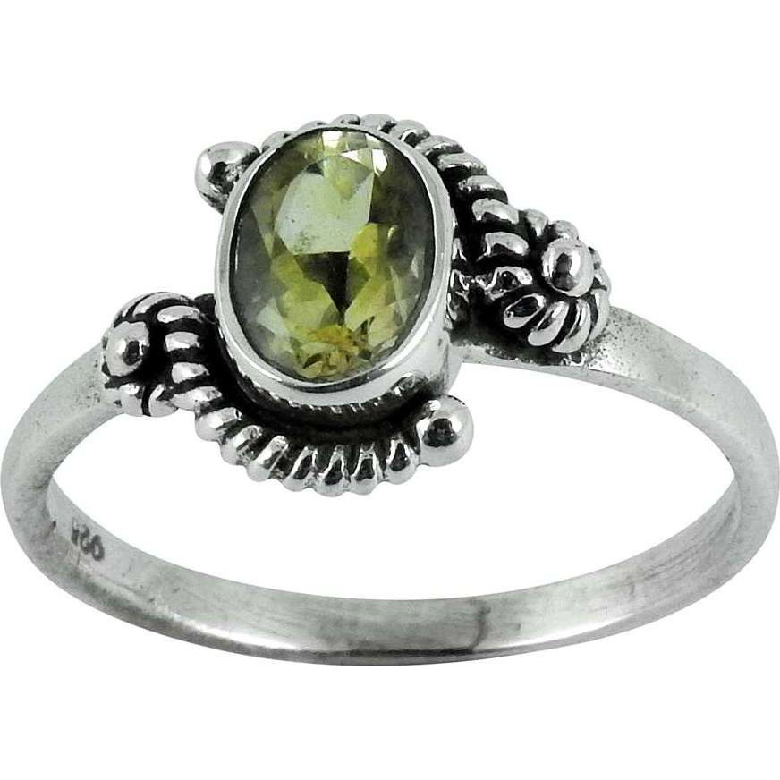 Very Light!! Citrine 925 Sterling Silver Ring