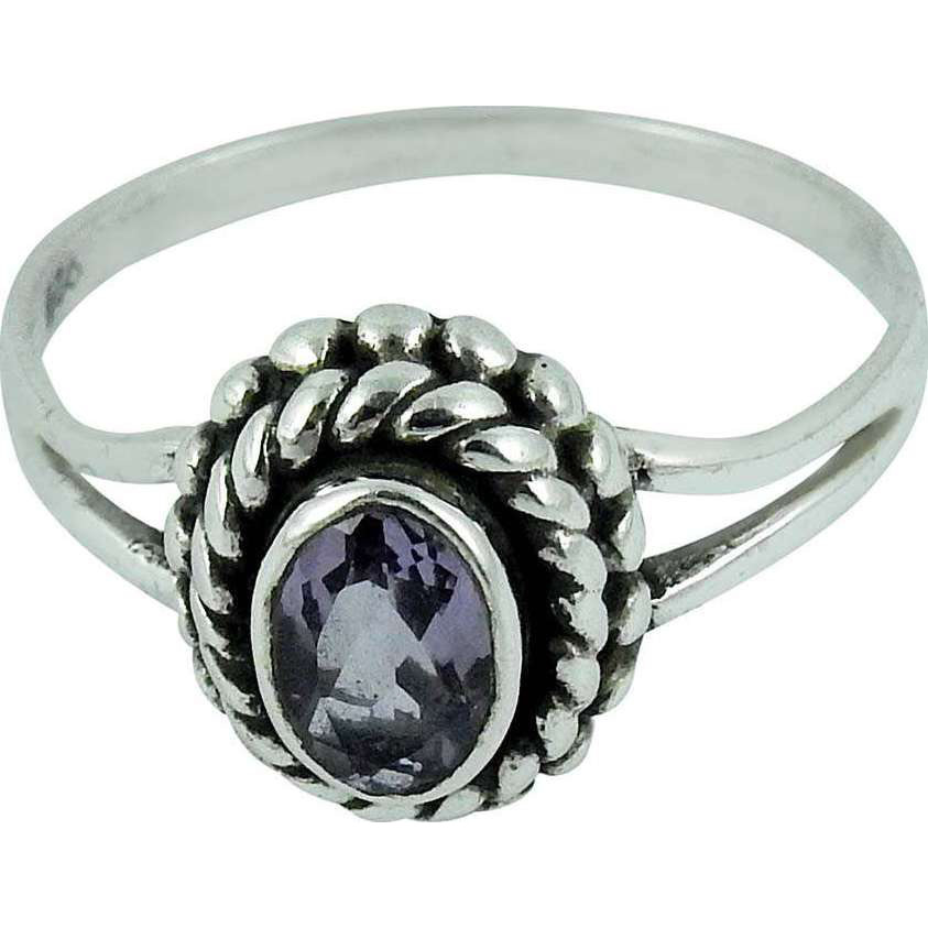 Stylish Design !! Amethyst 925 Sterling Silver Ring