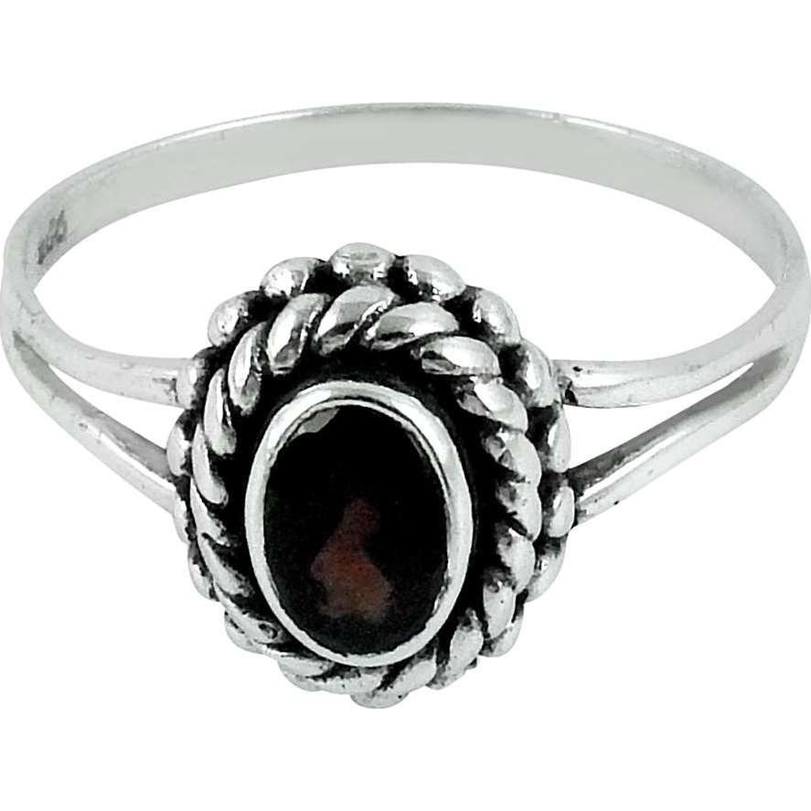 Maya Freedom !! Garnet 925 Sterling Silver Ring