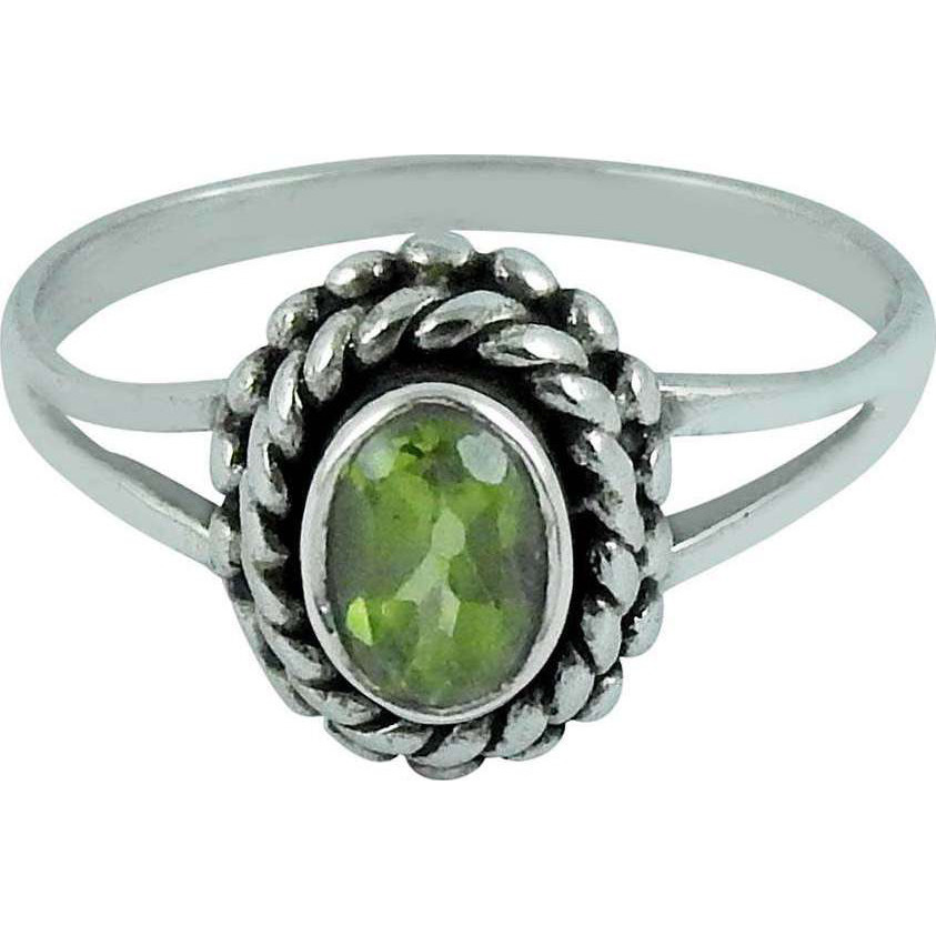 Spell !! Peridot 925 Sterling Silver Ring