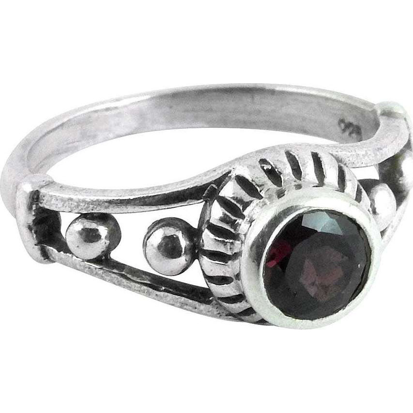 High Work Quality! Garnet 925 Sterling Silver Rings