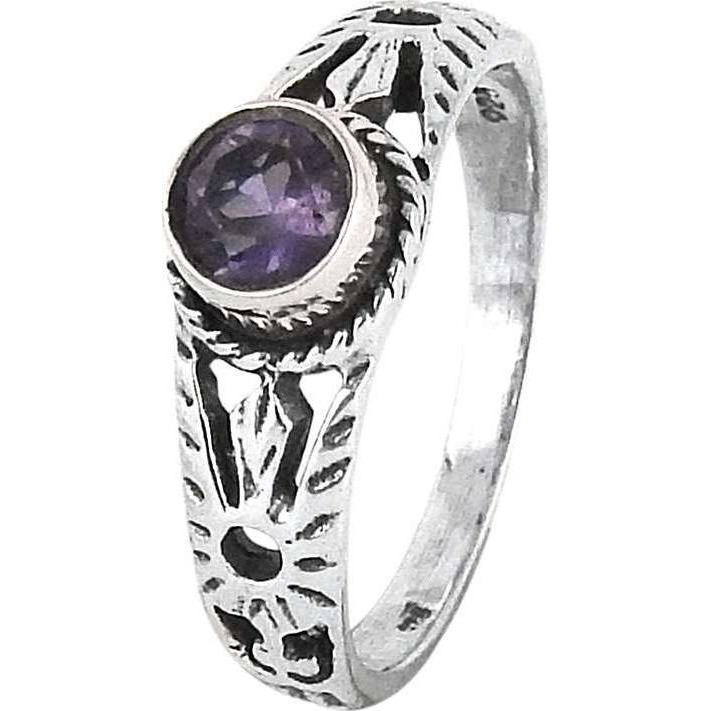 Big Excellent!! Amethyst 925 Sterling Silver Rings