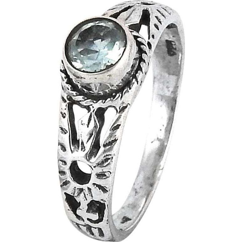 Amazing Design!! BLUE Topaz 925 Sterling Silver Ring