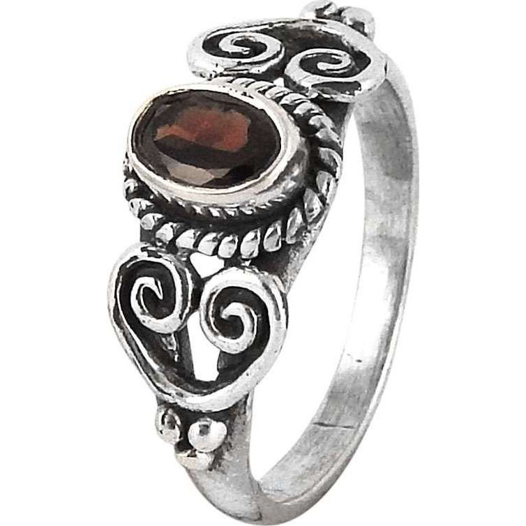 Large Stunning !! Garnet 925 Sterling Silver Ring