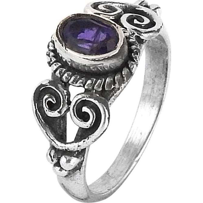 Passionate Modern Style Of !! Amethyst 925 Sterling Silver Ring