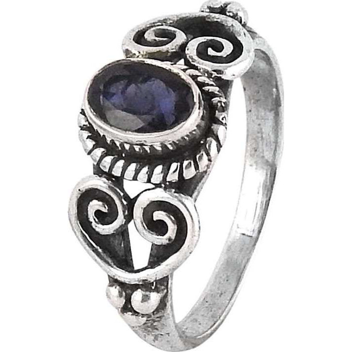 Royal Color !! Iolite 925 Sterling Silver Ring