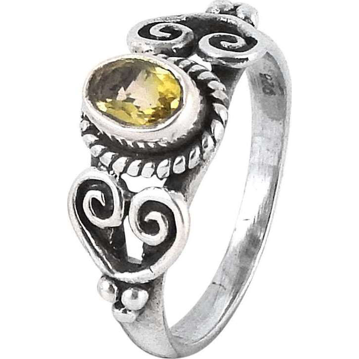 Modern Style !! Citrine 925 Sterling Silver Ring