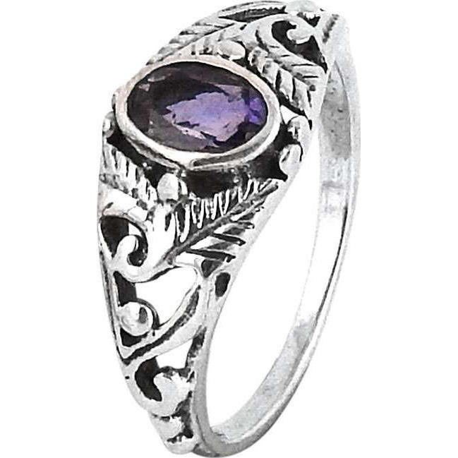 Big Falling In Love ! Amethyst 925 Sterling Silver Ring
