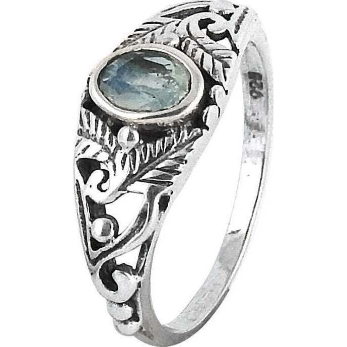 Big Relief Stone ! Rainbow Moonstone 925 Sterling Silver Ring