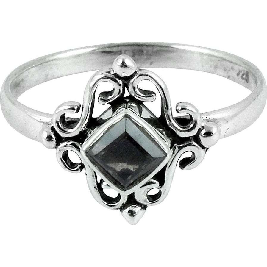 Cloud Song ! Smoky Quartz 925 Sterling Silver Ring