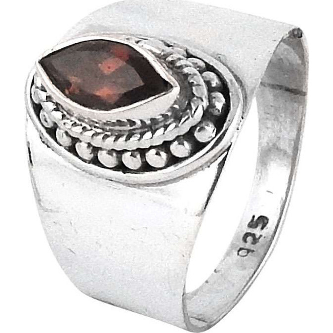 Natural ! Garnet 925 Sterling Silver Ring
