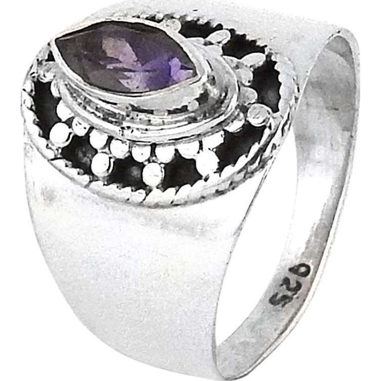 Very Delicate ! Amethyst 925 Sterling Silver Ring