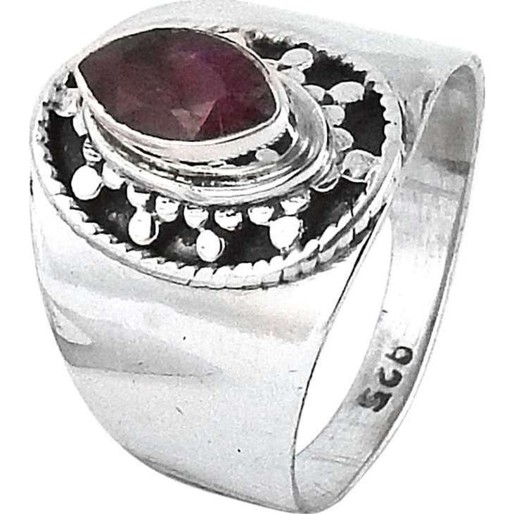 Stylish ! Ruby 925 Sterling Silver Ring