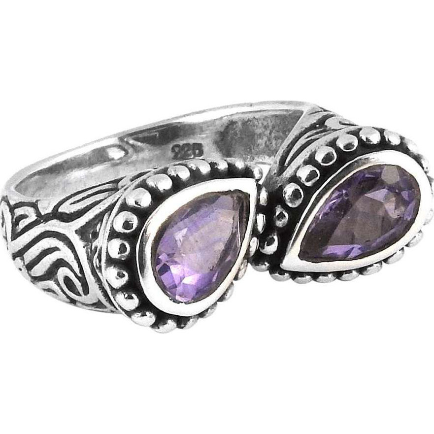 Chunky ! 925 Sterling Silver Amethyst Ring