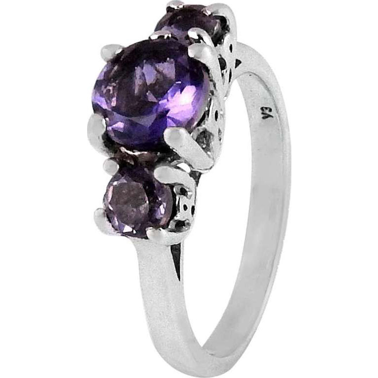 Large Stunning!! 925 Sterling Silver Amethyst Ring