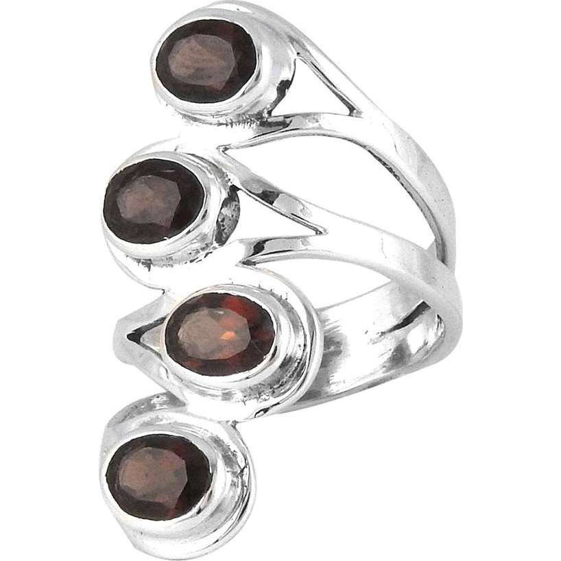 Briliance!! Garnet 925 Sterling Silver Rings
