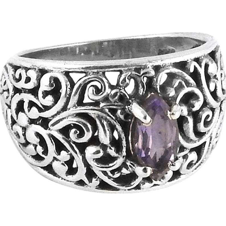 Royal Style! Amethyst 925 Sterling Silver Ring