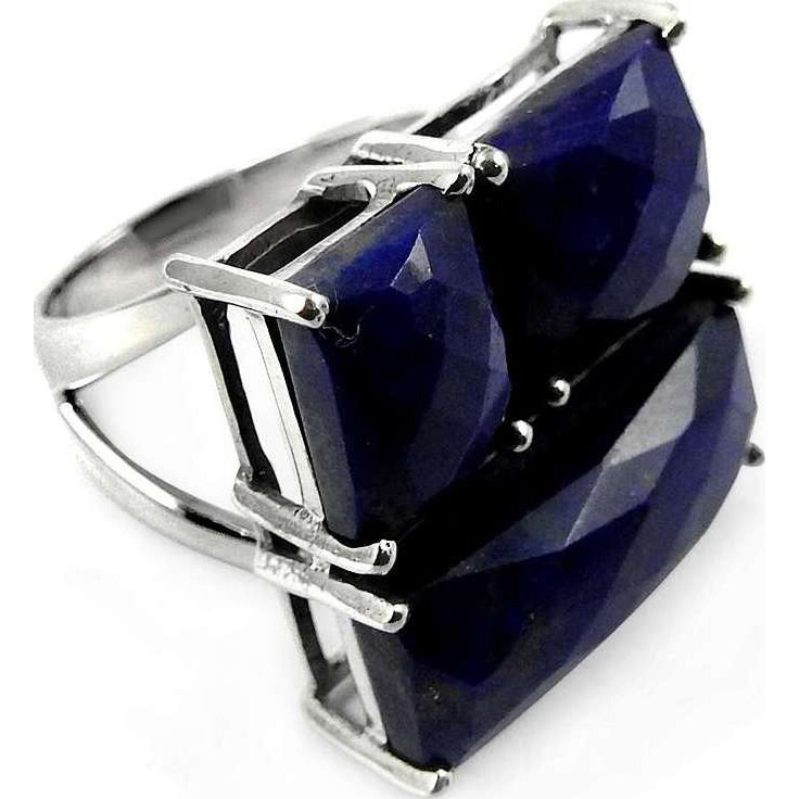 Antique Handmade!! 925 Sterling Silver Lapis Ring