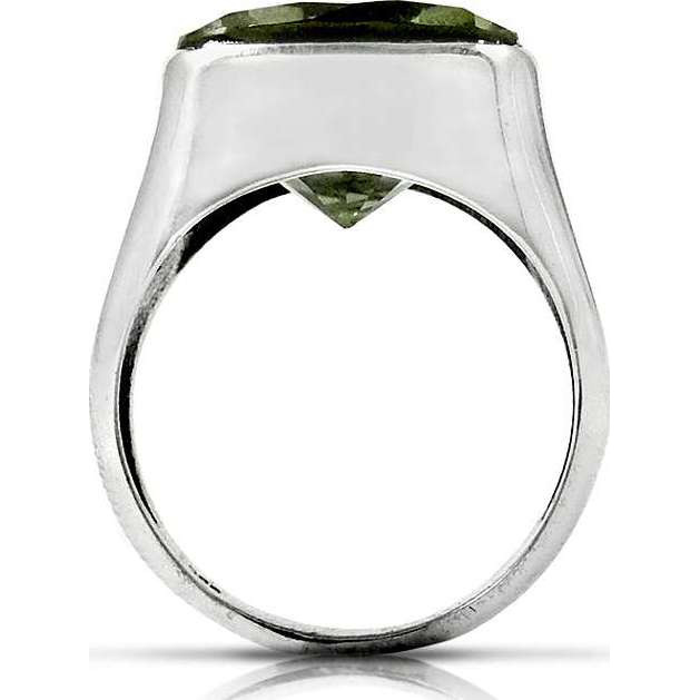 Passion!! Green Amethyst 925 Sterling Silver Ring