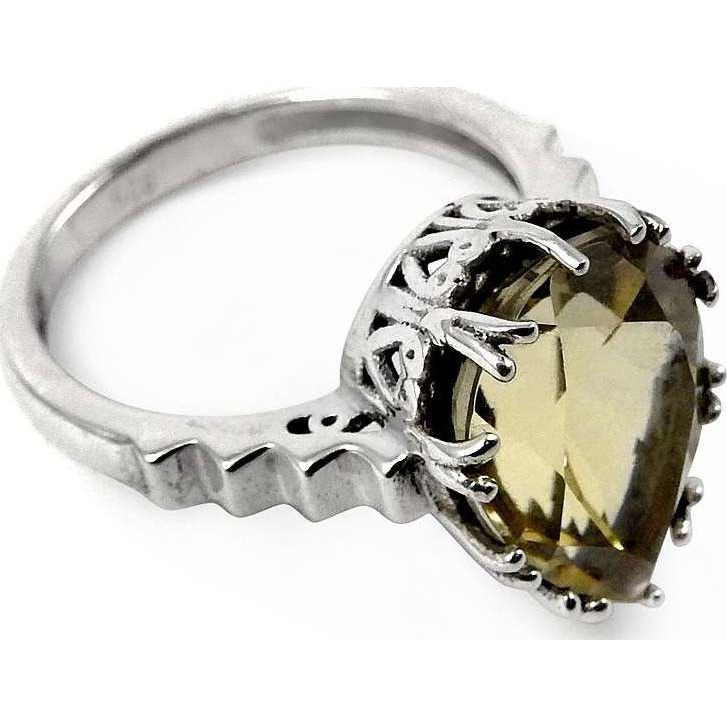 Before Time!! 925 Sterling Silver Citrine Ring