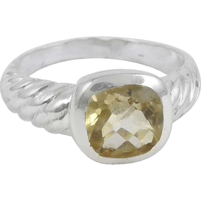 New Style Of 925 Silver Citrine Ring