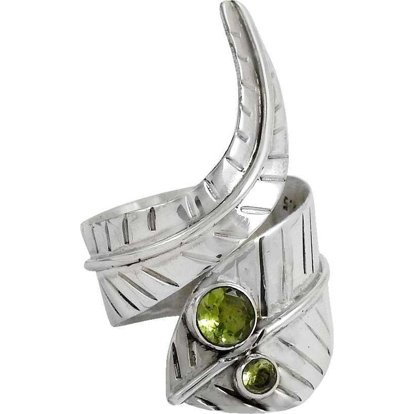 Awesome 925 Silver Peridot Ring